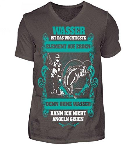 Hochwertiges Herren V-Neck Shirt - Wasser ist das wichtigste Element