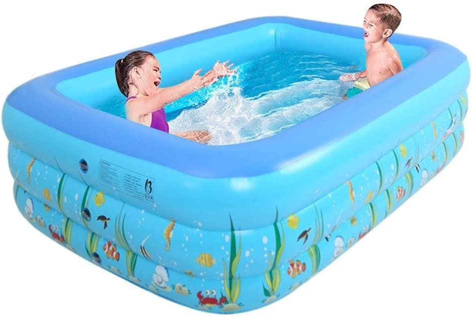 Inflatable Pool Kids Inflatable Pool Home Use Paddling Pool Large Size Inflatable Square Swimming Pool For Baby Yjxushyq Amazon Ca Home Kitchen