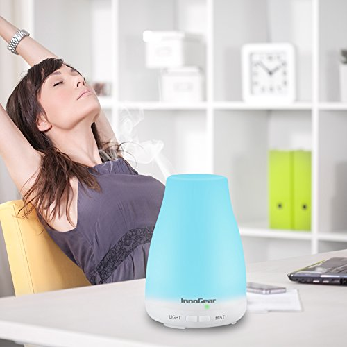 InnoGear-Aromatherapy-Essential-Oil-Diffuser-Portable-Ultrasonic-Diffusers-with-Color-LED-Lights-Changing-and-Waterless-Auto-Shut-off-Function-for-Home-Office-Bedroom-Room-100-mL