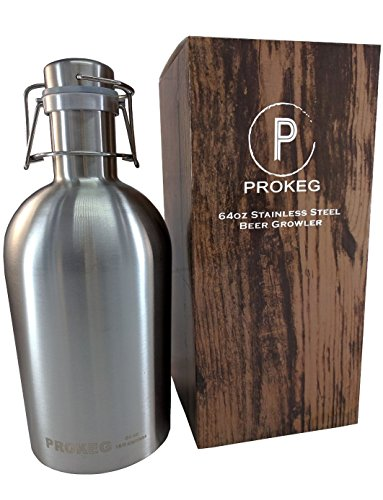 Stainless Steel Beer Growler 64oz