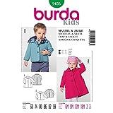 Burda Toddlers Easy Sewing Pattern 9456 - Coat & Jacket Ages: 6M-3