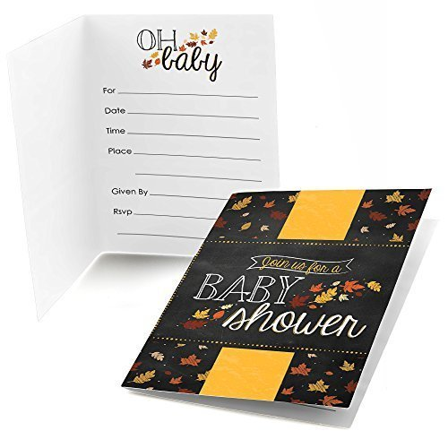 Oh Baby - Fall - Fill In Baby Shower Invitations (8 count)