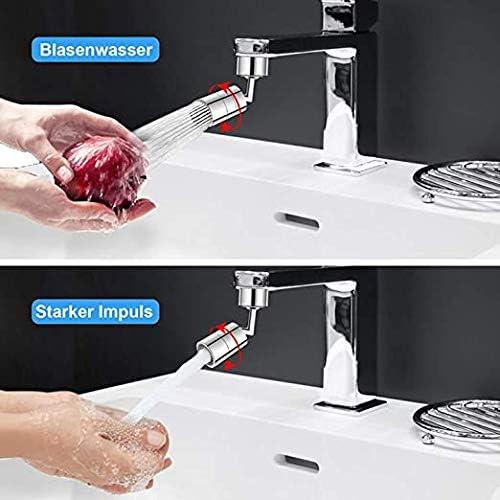 Estensione del Rubinetto Queta Rubinetto Universale Con Filtro Antispruzzo Regolabile a 720 gradi 2 Modalit/à: Forte // a Prova di Schizzi Realizzato in Rame e Materiale ABS