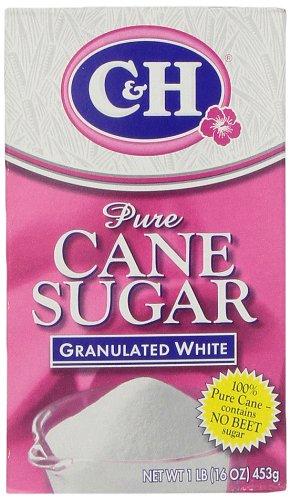 C&H Pure Cane Granulated White Sugar, 1 lb