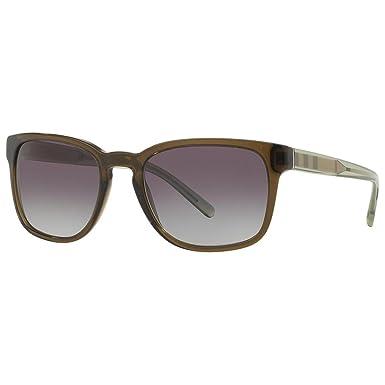 BURBERRY Unisex Sonnenbrille BE4222, Schwarz (Gestell: Schwarz, Gläser: Grau 300187), Medium (Herstellergröße: 55)