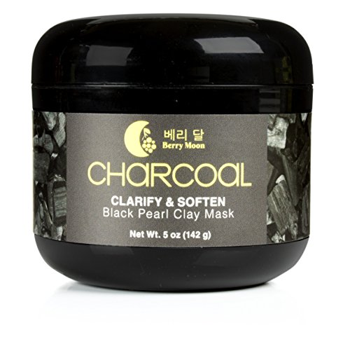 Berry Moon Anti-aging Charcoal Clay Mask for oily skin, cong