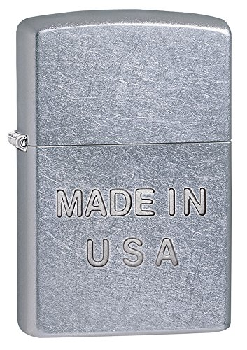 Zippo Made in USA Pocket Lighter, Street Chrome