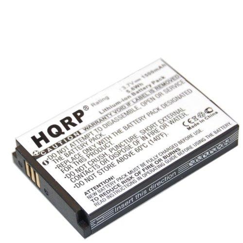 HQRP Battery for GolfBuddy Ll-A10-04 LI-A11-05 LI-B03-02 GB3-BATT-REC fits Golf-Buddy Platinum, World Platinum (White Model Only), GB3-PLA-G-B, DSC-GB300 Range Finder, Size 54 x 36 x 8mm + Coaster