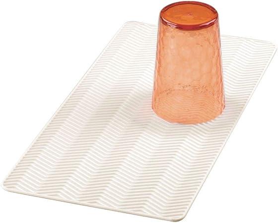 Tapis d/'Evier de Cuisine Transparent 29 x 25 cm En Silicone Vaisselle 4 Couleurs