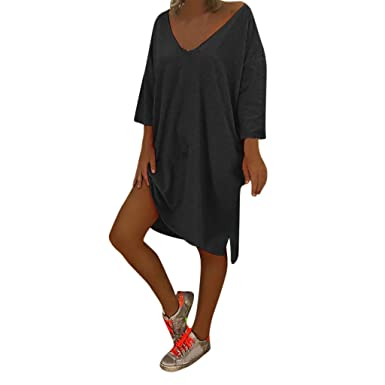 ce4da2f976c Zaidern Women Dress Women s Sexy V Neck Feminino Vesti Caftan Boho Beach  Cover Plus Size Ladies