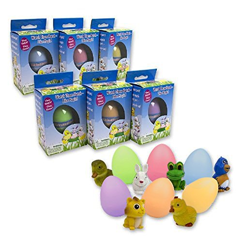 Easter Eggs - Super Sized Grow Eggs (Single Unit) - Watch Them Hatch Like Magic One of Six Different Pets! - Sized Unit