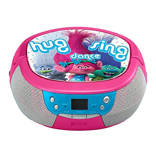 Trolls DreamWorks Hug Sing Dance CD Player Stereo - Karaoke Boombox Cd Player