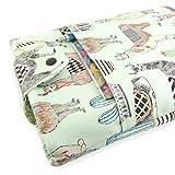 Handmade Llama Fabric Book Sleeve - Padded - Perfect For Hardbacks Or Large Paperbacks