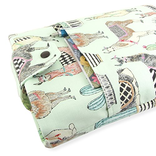 Handmade Llama Fabric Book Sleeve - Padded - Perfect For Hardbacks Or Large Paperbacks by Five Sprouts Stitching