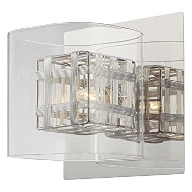 George Kovacs P800-077, Jewel Box, 1 Light Bath Fixture, Chrome