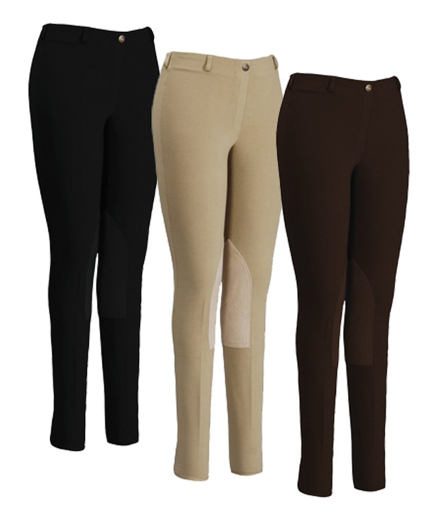 TUFFRIDER Ladies Cotton Lowrise Pull-On Breeches JPC Equestrian Inc