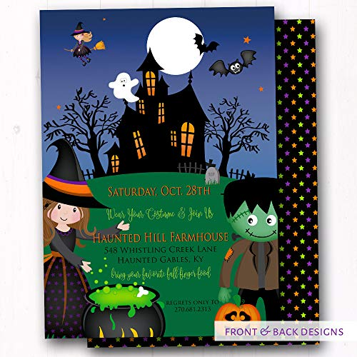 Halloween Party Invitations - Trunk or Treat Invites - Costume Party Invites - Kids Trick or Treat - Set of 20 Invites w/Envelopes ()