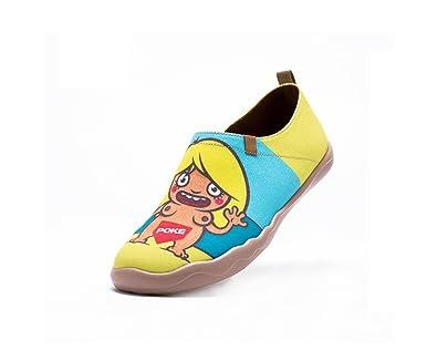 UIN Chat charmant Chaussures bateau de toiles casual multicolore pour femme (40) UfcRu1