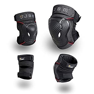 JBM BMX Bike Knee Pads and Elbow Pads with Wrist Guards Protective Gear Set for Biking, Riding, Cycling and Multi Sports Safety Protection: Scooter, Skateboard, Bicycle, inline skatings from JBM