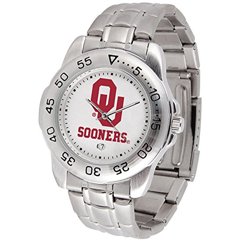 Linkswalker Mens Oklahoma Sooners Sport Steel Watch