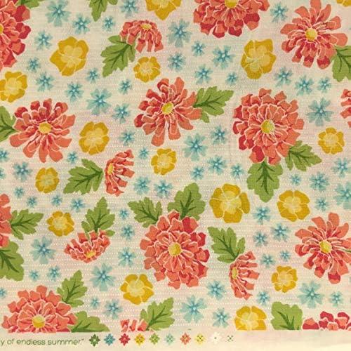 Tela por metros para Patchwork - 100% algodón - 110 cm ancho - Largo a elección de 50 en 50 cm | Flores. Rosa, amarillo: Amazon.es: Hogar