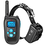 Training Dog Collar - Peteast Remote Dog Training Collar, Rechargeable and All-Weather Resistant E-Collar Trainer with Beep, Vibration, and Shock for All Size Dogs (10Lbs - 100Lbs), 1000ft Range