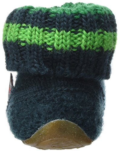 Haflinger Everest Pablo - Zapatillas de casa Unisex niños Grün (Tannengrün)