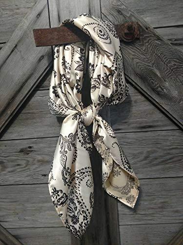 Reversible Scarf  Western Scarf  Southwestern Print  Dark Green  Denim  Cotton  Cowgirl Scarf  Cowboy Scarf  Western Bandana