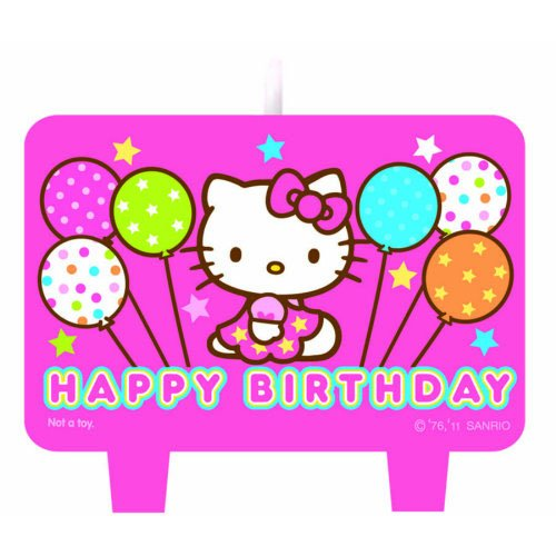 1 X Hello Kitty Mini Molded Candles - 4/Pkg.