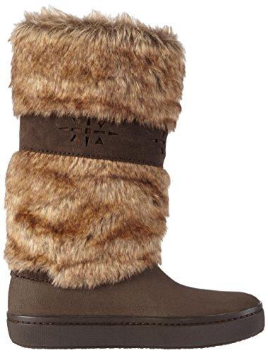 Crocs Modessa Fury Boot - botas rizadas Mujer Marrón (Espresso/Espresso)