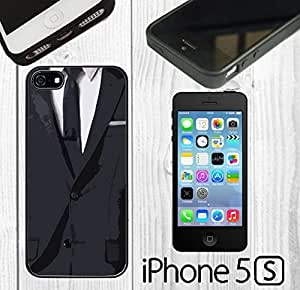 Men Suit Cool Custom made Case/Cover/skin FOR iPhone 5/5s -Black - Rubber Case ( Ship From CA)