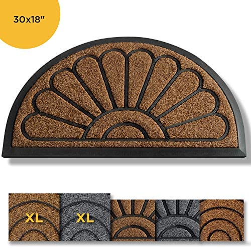 Artoid Mode Hello Fall Maple Leaves Decorative Doormat, Seasonal Autumn Harvest Vintage Thanksgiving Low-Profile Floor Mat Switch Mat for Indoor Outdoor 17 x 29 Inch