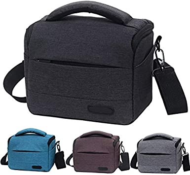 JINGZ Waterproof DSLR Camera Bag for Nikon Canon Sony Panasonic etc Camera Color : Black Size:Large Durable