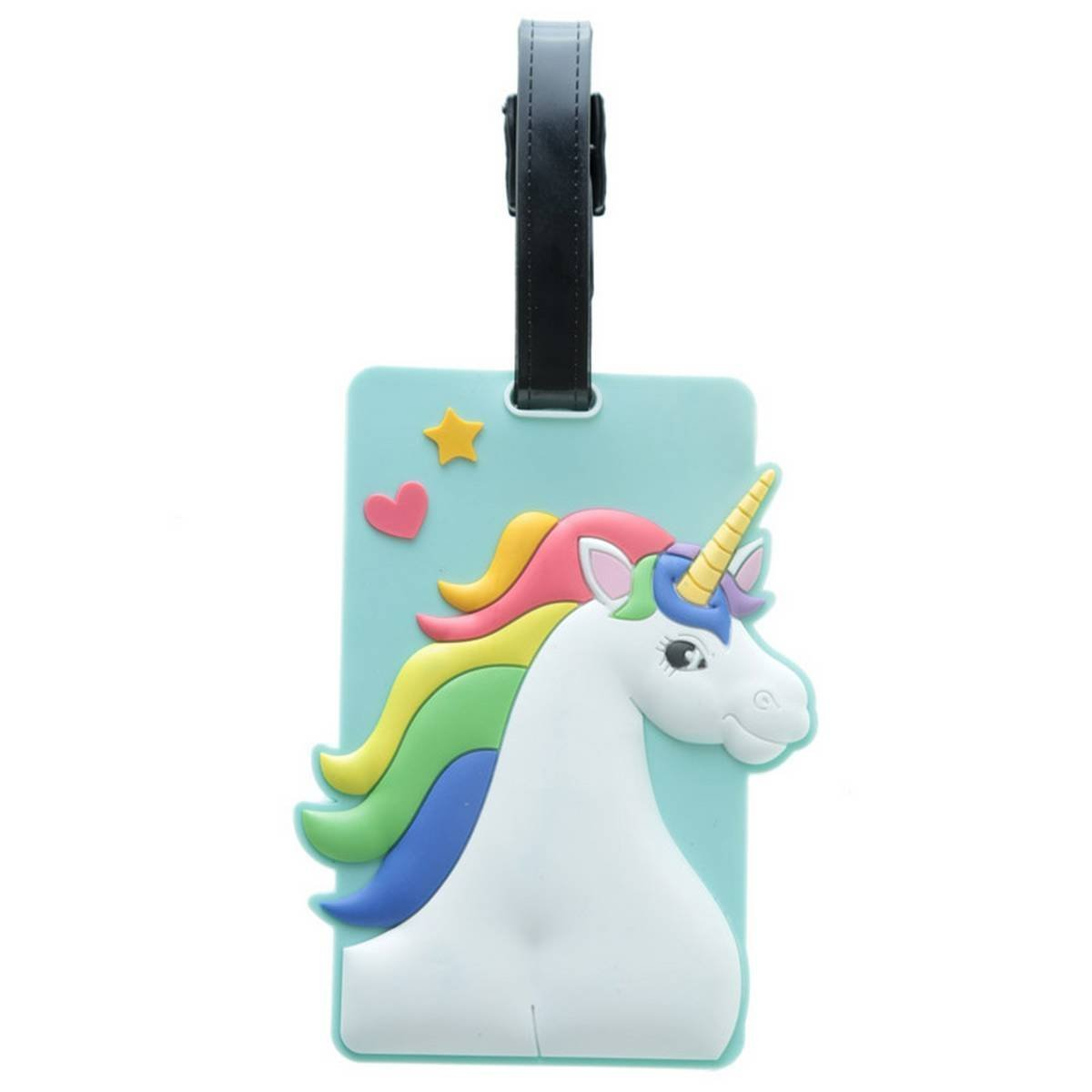 1 x Enchanted Unicorn Rainbow PVC Luggage Suitcase Tag Bag Puckator