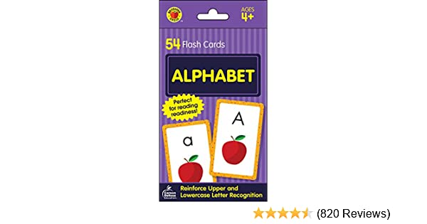 Amazon com: Carson Dellosa - Alphabet Flash Cards - 54 Cards