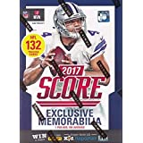 2017 Score NFL Football EXCLUSIVE Factory Sealed Retail Box with 132 Cards & SPECIAL MEMORABILIA Card! Includes 20+ INSERTS & 30+ ROOKIES! Look for RC & Auto's of Deshaun Watson, Pat Mahomes & More!