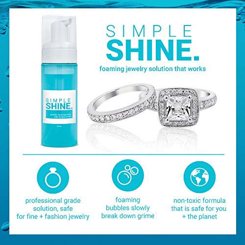 NEW Gentle Ring Jewelry Cleaner Foam Cleaning Foaming Solution   Clean Gold, Silver Fine & Fashion Rings by Simple Shine (Image #2)