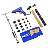 Cosparty 32PCS Dent Remover Repair Tools PDR Kits Dent Puller Paintless Slide Hammer Glue Gun Sticks Vehicle Car Auto Body Damage Remover