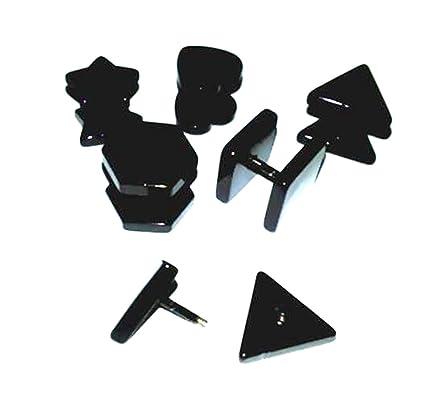 CHESUN 10Pcs Piercing Formas Cónicas Acrílico, Expansor Túneles Kit, Túnel Oído Piercing Dilatador,