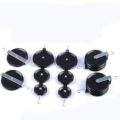 juler Juguetes educativos STEM Toys Science Kits Bloque de polea grande para demostración de enseñanza de física Mecánica de efecto mecánico Equipo experimental Juego de cuerda y polea,Negro,Un tamaño: Deportes y aire libre