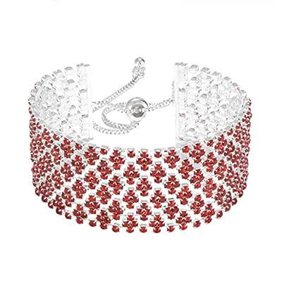 IDesign Clear Crystal Rhinestone Bracelet Adjustable Bracelet Bangle for Women Girls,Gift for birthdady Party