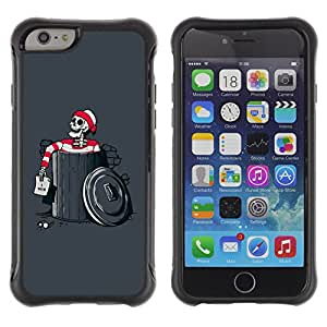 ZFresh Rugged Protective Case Cover - Funny Waldo Skeleton - Apple Iphone 6