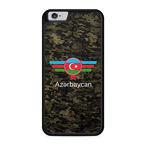 Aserbaidschan Azerbaycan Camouflage mit Schriftzug - Hülle für iPhone 6 & 6s SILIKON Handyhülle Case Cover Schutzhülle - Bedruckte Flagge Flag Military Aserbaijan Militär