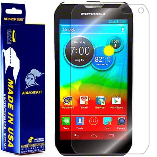 ArmorSuit MilitaryShield Screen Protector for Motorola Photon Q 4G LTE - [Max Coverage] Anti-Bubble HD Clear Film