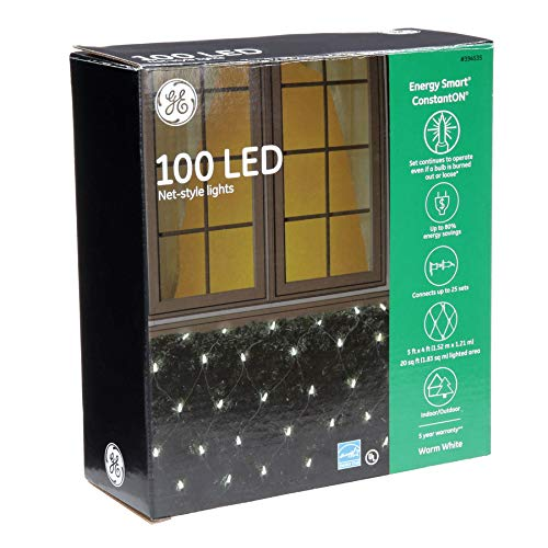 Ge 100 Count White Led Christmas Net Lights