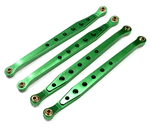 Integy RC Model Hop-ups C23789GREEN Billet Machined Alloy Chassis Linkage (4) for Axial Wraith