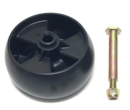 Deck Wheel Replace 734-04155, Bolt Replaces 938-3056 Plus Locknut  MTD, Cub  Cadet, Troy Bilt, White
