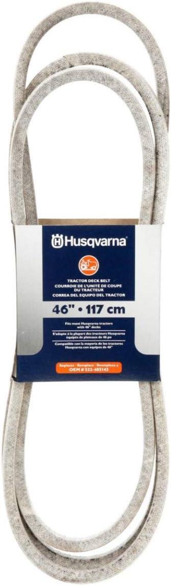 Amazon.com: Husqvarna 46-in Deck/correa de transmisión para ...