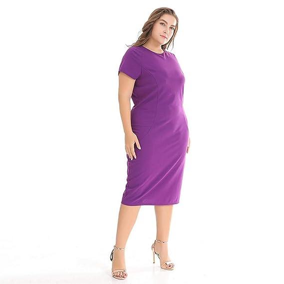 TDPYT Vestidos Amplios/Vestidos De Rodilla Violeta XL: Amazon.es: Deportes y aire libre