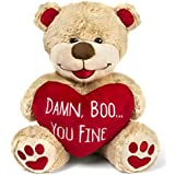 'Damn Boo...You Fine' Teddy Bear - Funny Anniversary, Holiday or Birthday Present